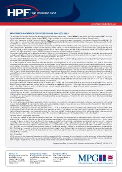 HPF Fact Sheet